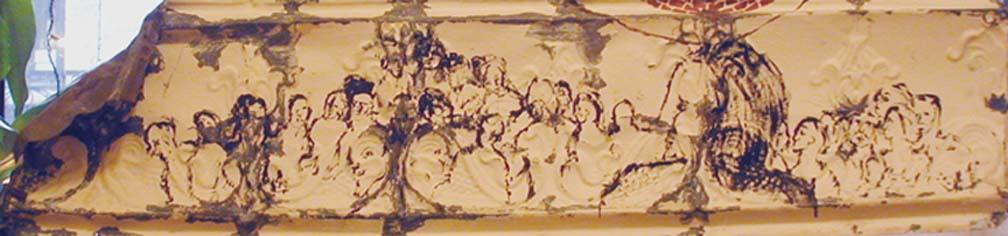 Oil on Ceiling Tin (sold)