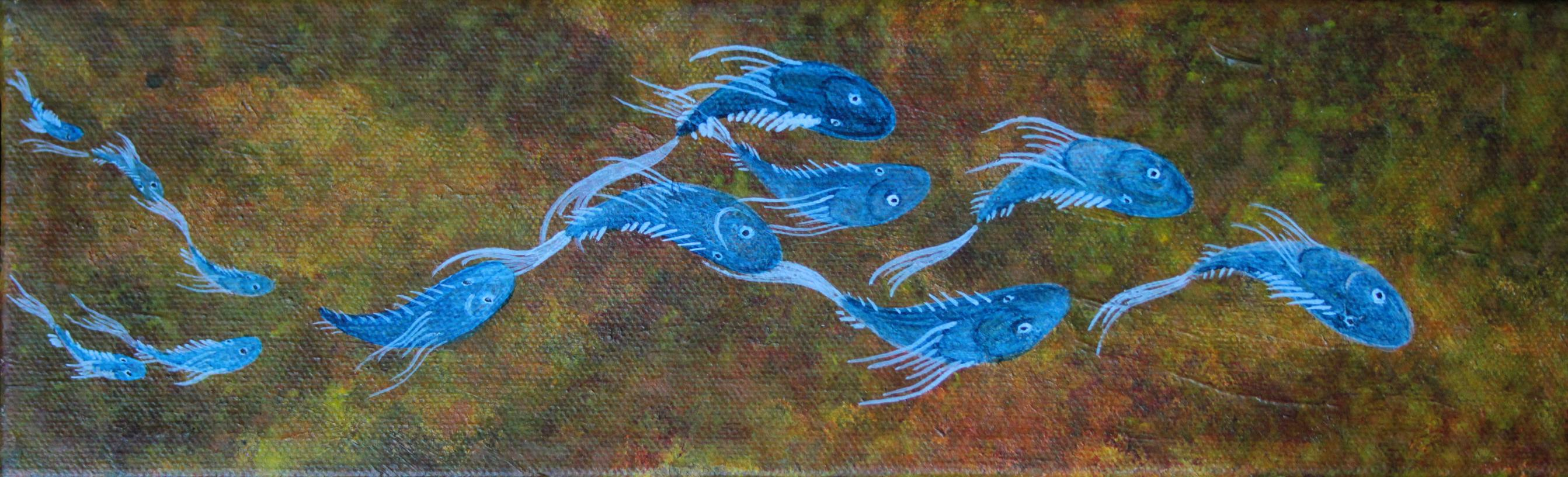 "Acrylic on Canvas 12"" x 4"" - 2013"