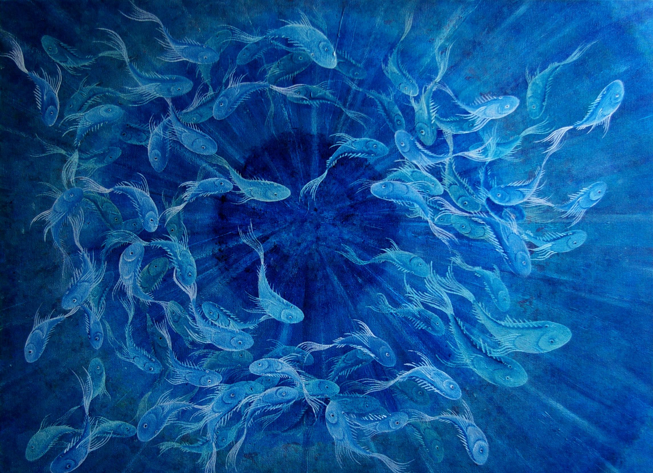 Ocean's Eye Oil on Canvas 2014 - (sold)